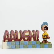 AAUGH word figurine