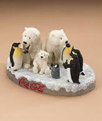 Coca Cola Polar Bear & Penguin Figurine