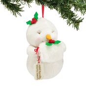Cold Hand Warm Heart plush ornament