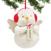 Believe plush ornament