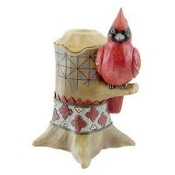 Cardinal taper candle holder