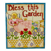 Bless This Garden plaque