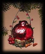 Ruby Shimmer Cardinal ornament