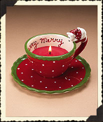 Here Kitty Buddy Candle cup & saucer set