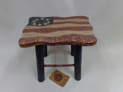 Edith's Old Glory Step Stool