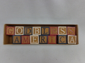 """God Bless America"" Wooden Blocks"