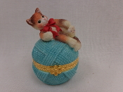 Kitten on Ball of Yarn