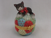 Cat on Quilted Ball
