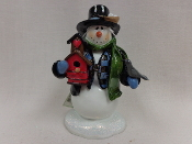 Snowman w/Birdhouse and Bird