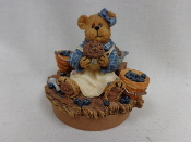 Bluebeary Muffin Candle Topper