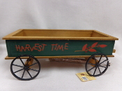 Harvest Time Green Wagon