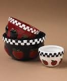 Fritter's Apple Bowl Set