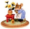 Mouse with Sunflowers